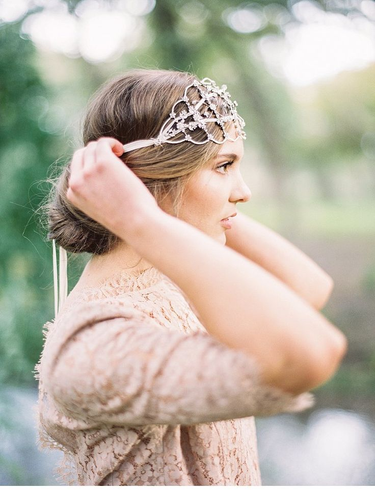 Love the head piece - unique take on a veil. (South African styled shoot | Taylor Lord photography)