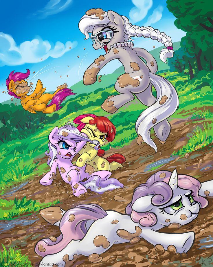 Mud-Fight by KP-ShadowSquirrel.deviantart.com on @DeviantArt