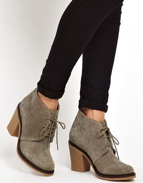 Taupe Suede Sandhurst Lace Up Ankle Boots