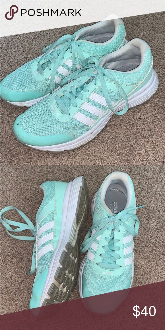 adidas cloud foam running shoes. only warn once. in really good condition!! they…