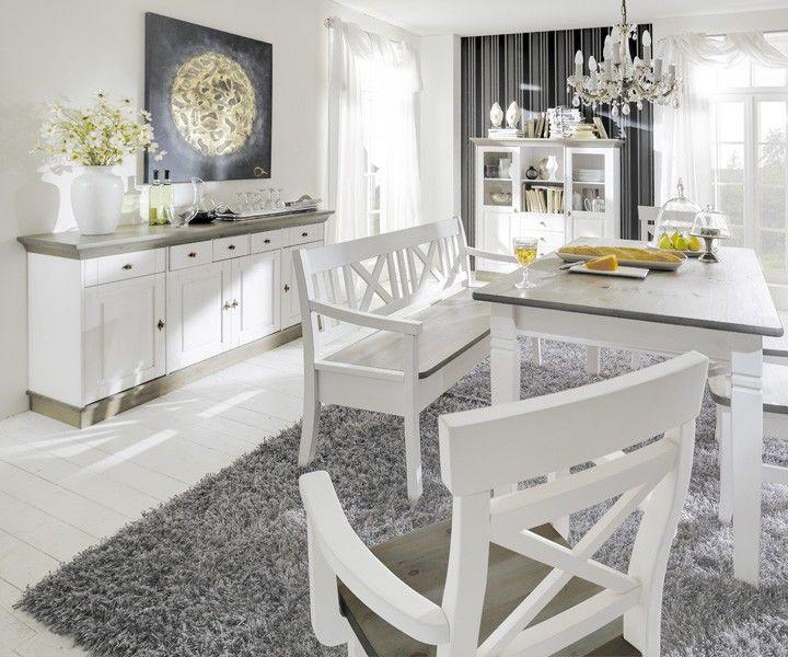 117 besten Landhaus Stil Einrichtung MORE2HOME Bilder auf - esszimmer in grau