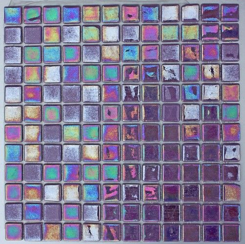Ooo, purple mosaic tiles from Topps Tiles - Iridis Lila 25x25mm                                                                                                                                                                                 More