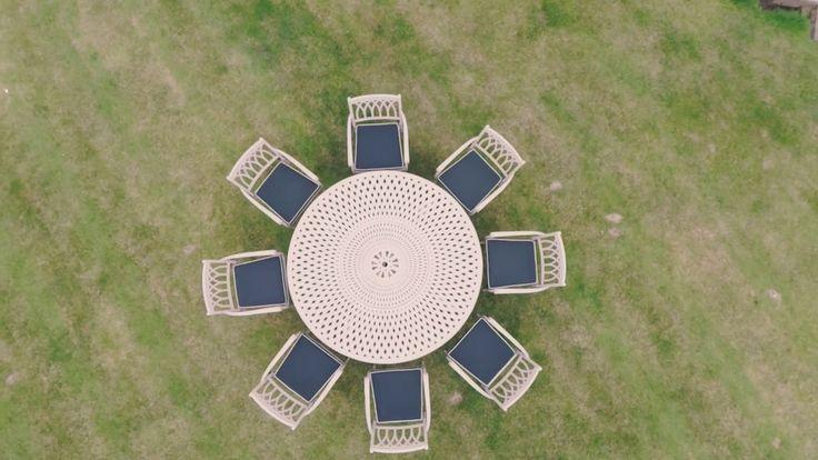 Aluminium Garden Furniture - Regent Round Set 8 seats