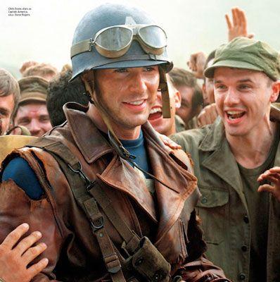 Военная мужская кожаная куртка капитан Америка