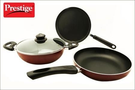 Prestige Omega Deluxe 3 + 1 Piece Cookware Set   Hundred Coupons