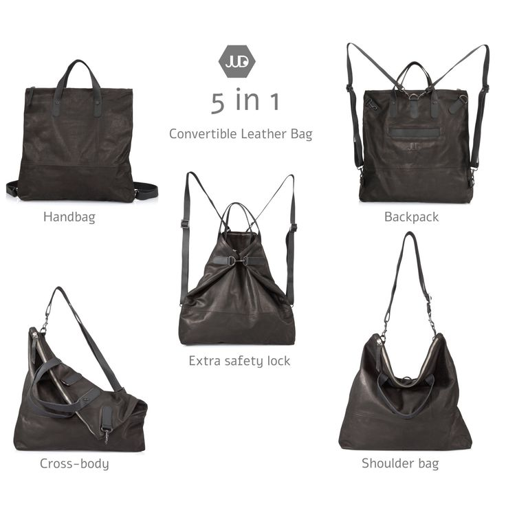 5 ways convertible leather bag, soft leather backpack or a slouch leather shoulder bag, choose the sling leather bag to carry it cross-body, this bag is made with soft open leather so it will age beautifully and look better with time! Code - 15OFFEXTRA