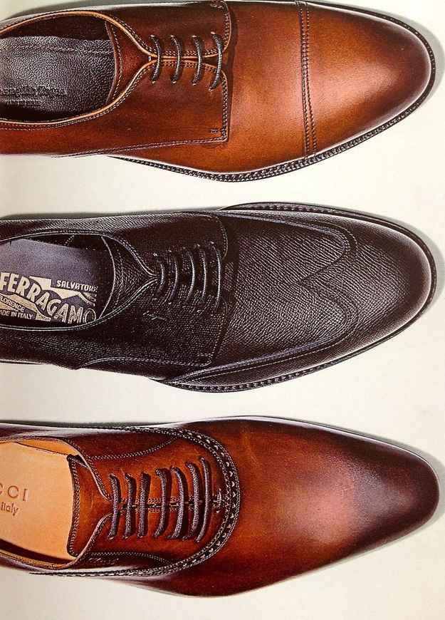If you're not going to run, don't wear running shoes. | 16 Ways To Dress Like A Grown Man  Invest in quality. Every man should own a black lace-up shoe (they match everything) and a few slim, pointed ones.
