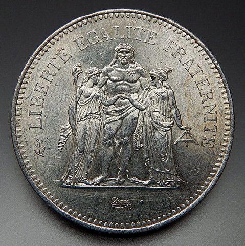 1976 France 50 Francs Collectible Silver Coin – Gold Stream Boutique