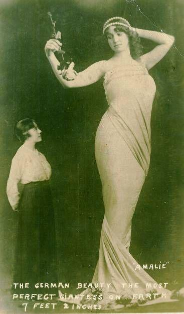"Amalie Schulte: The German Beauty.  7'2"""