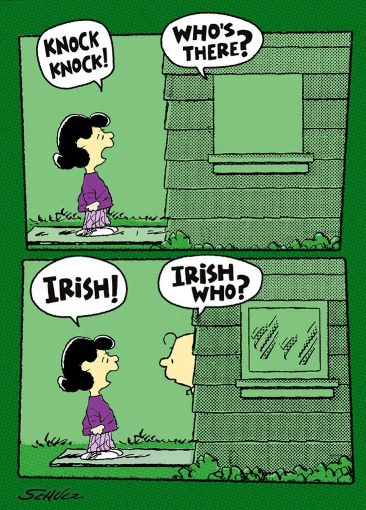 Patirck's Day joke from the Peanuts gang.