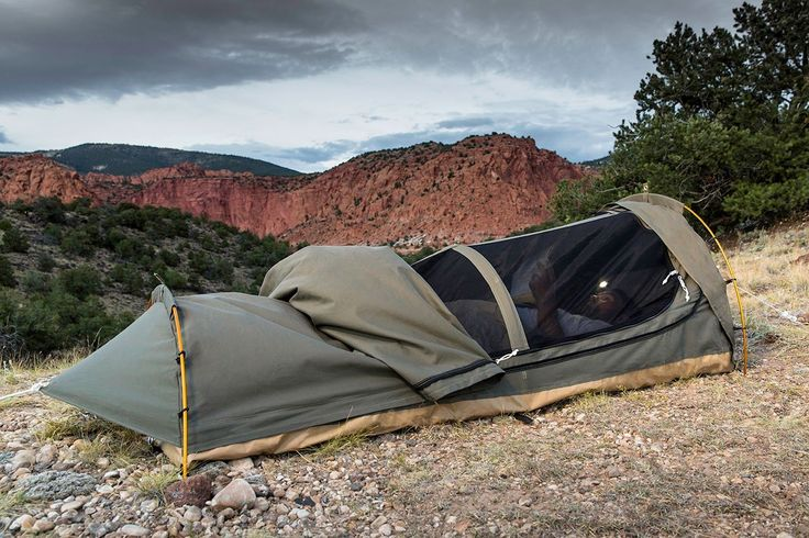 Amazon.com : Kodiak Canvas 1-Person Canvas Swag Tent with Sleeping Pad, Olive…