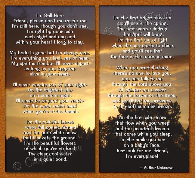 Best Friend Poems To Read At A Funeral Funeral Program