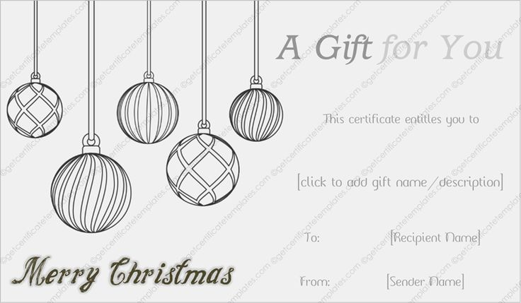 Get beautifully designed Jolly Simple Christmas Gift Certificate - christmas gift vouchers templates