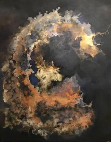 "Saatchi Art Artist Aria Dellcorta; Painting, ""Silently Present"" #art #energy #painting #artforsale #gallery #soul #academicart #myart #original #interiordesign"
