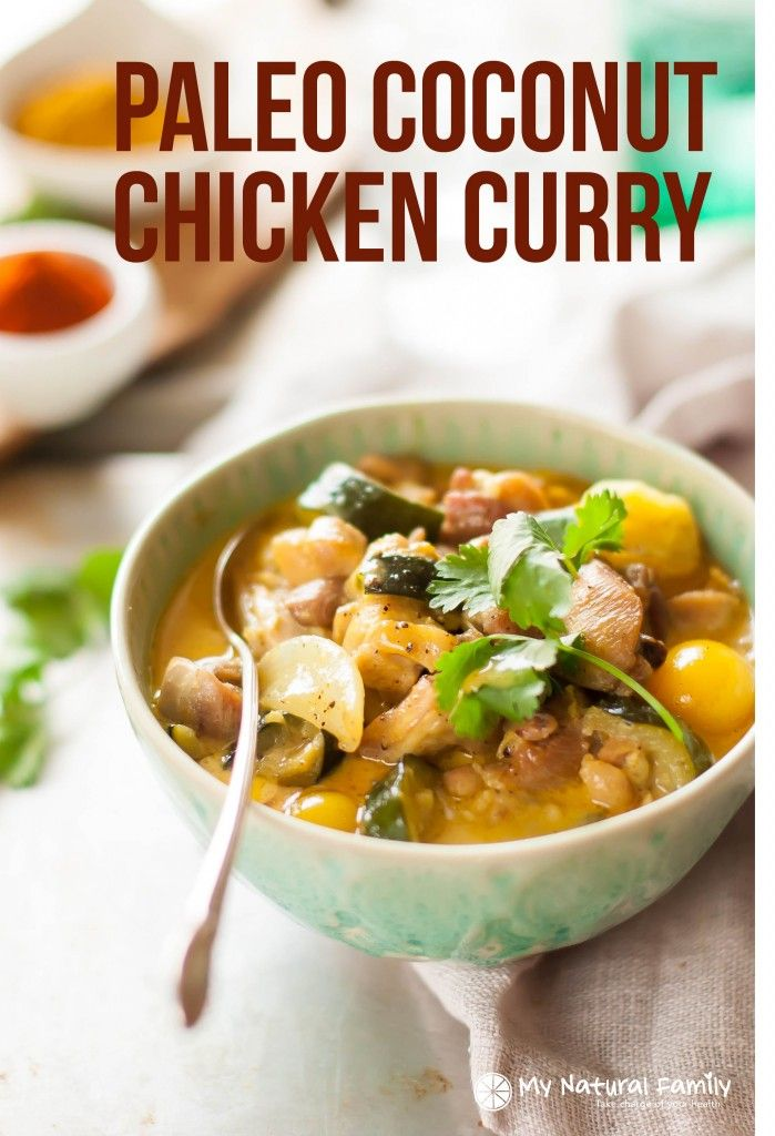 This chicken curry recipe is simple, delicious and dairy-free, Paleo, gluten free and Clean! I've made it tons of times for a quick weeknight meal and our whole family loves it!