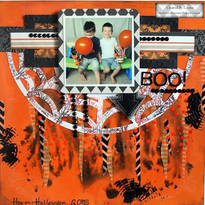 Deer and Fawn Designs: Louise's Guest DT Share - Halloween inspired layou...