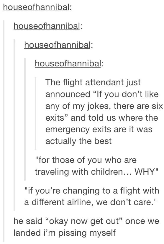 I dream of getting on a flight like that