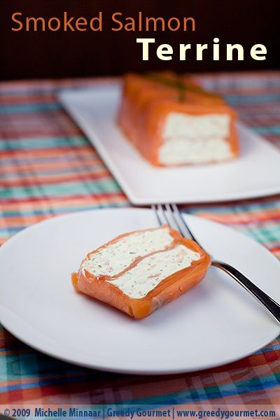 Smoked Salmon Terrine: - Save tons of money by making your own smoked salmon terrine instead of buying the supermarket's.