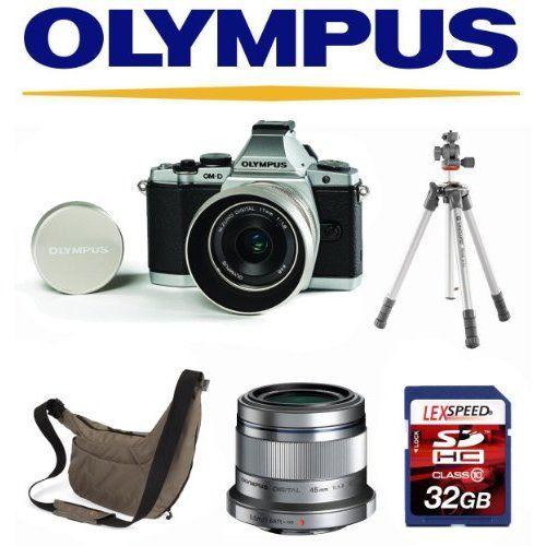 Olympus OM-D E-M5 Camera with 17mm f/1.8 Lens Limited Edition + Olympus 45mm f1.8 + Vanguard Tripod + LowePro Bag +32GB Kit