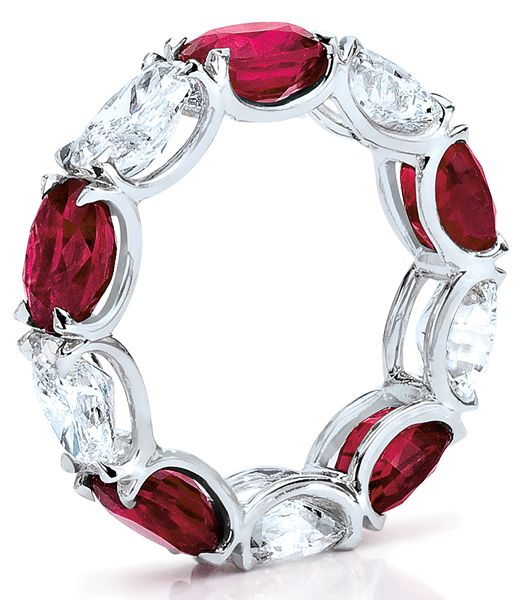 Idea for ruby and diamond eternity ring