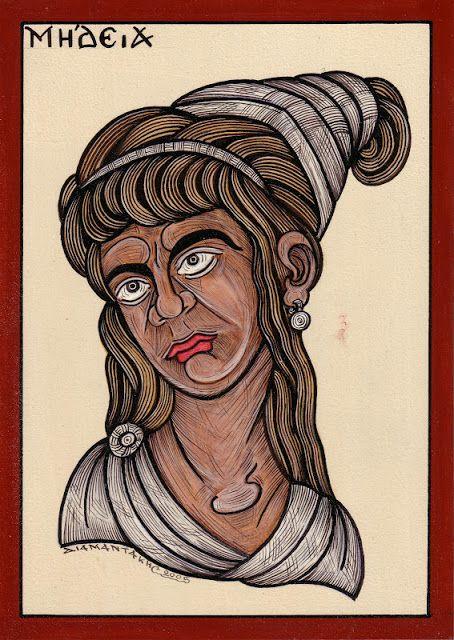ΜΗΔΕΙΑ.... είναι κόρη του βασιλιά της Κολχίδας Αιήτη και της Ωκεανίδας Ιδυίας ή Εκάτης. Από τη θεία της, Κίρκη, είχε μάθει την τέχνη της μαγείας, την οποία χρησιμοποιούσε σ' όλη την ζωή της.. Όταν ο Ιάσονας, αρχηγός της Αργοναυτικής εκστρατείας, έφτασε στην Κολχίδα, η Μήδεια τον ερωτεύτηκε....