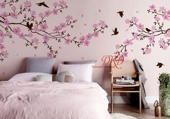 Nursery Wall Decal Wall Sticker Large Blooming Tree Wall Decal