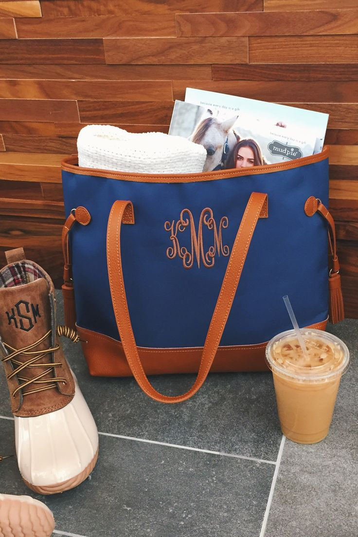 The PERFECT bag! Monogrammed Classic Tote from Marleylilly!