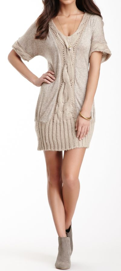 Cable knit dress http://www.pinterest.com/adisavoiaditrev/boards/