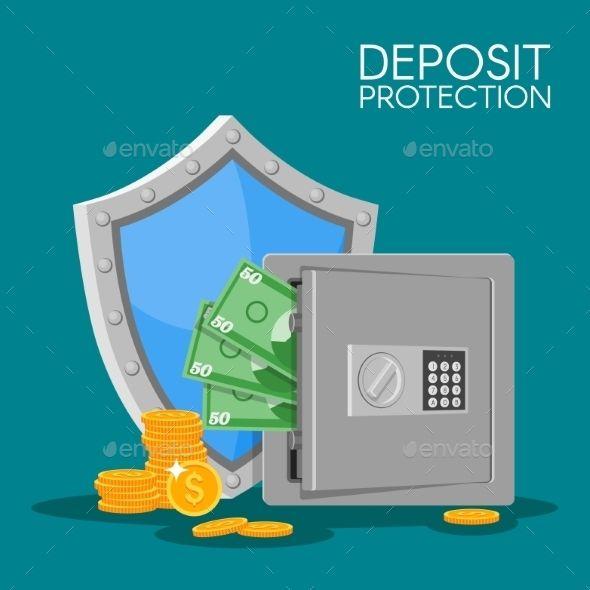 Bank Deposit Vector Illustration Flat Style