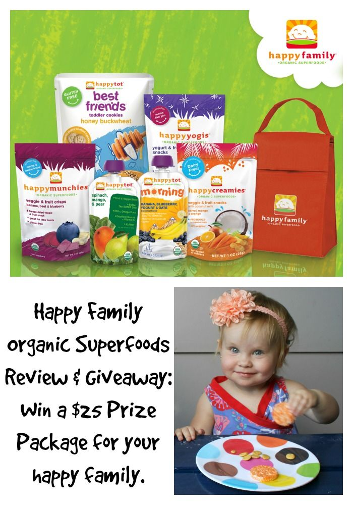 Happy Family Review and Giveaway ~ Organic Superfoods for Babies ...