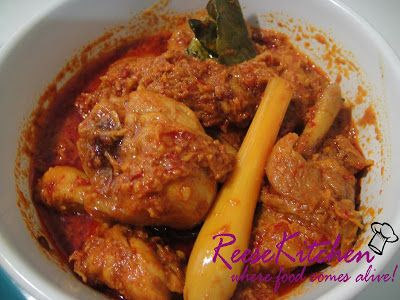 Chicken Rendang Padang & Tumeric Glutinous Rice by ReeseKitchen