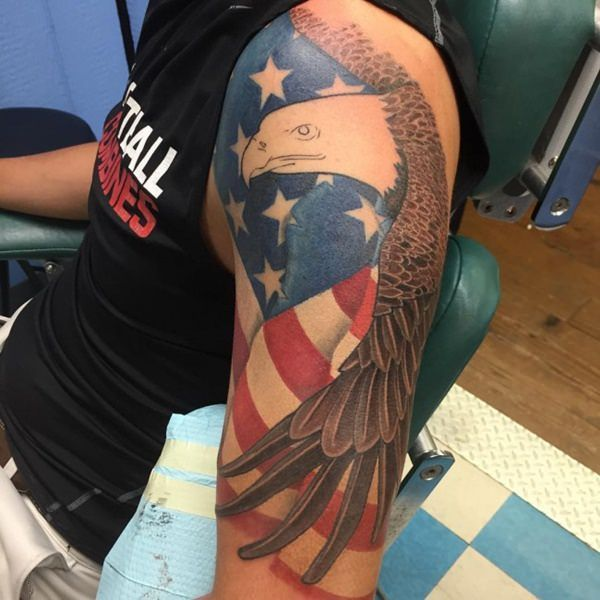 1000 ideas about eagle tattoos on pinterest tattoos american flag tattoos and tribal eagle. Black Bedroom Furniture Sets. Home Design Ideas
