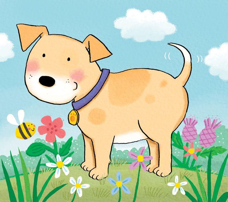 Kate Daubney, childrens book illustration, dog, puppy, strong key line