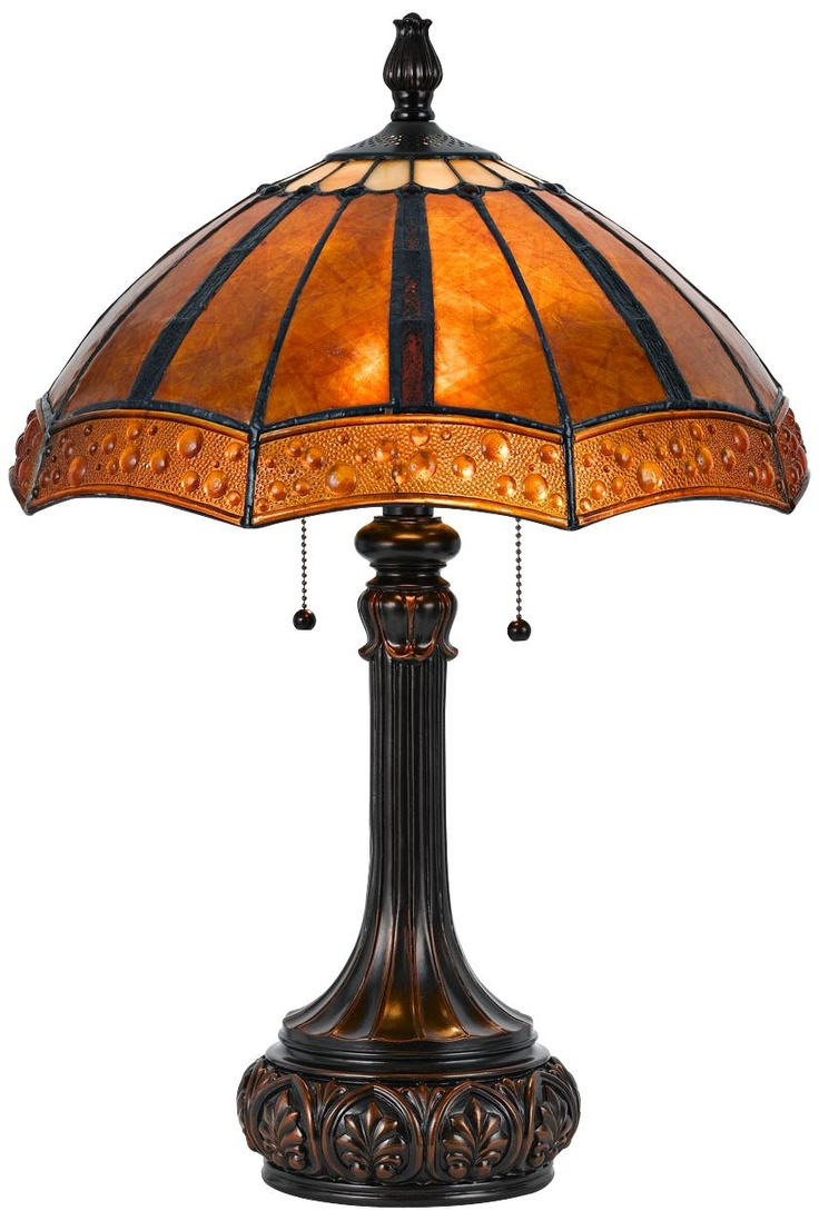 Perfect Rubbed Bronze And Mica Shade Tiffany Style Table Lamp | LampsPlus.com