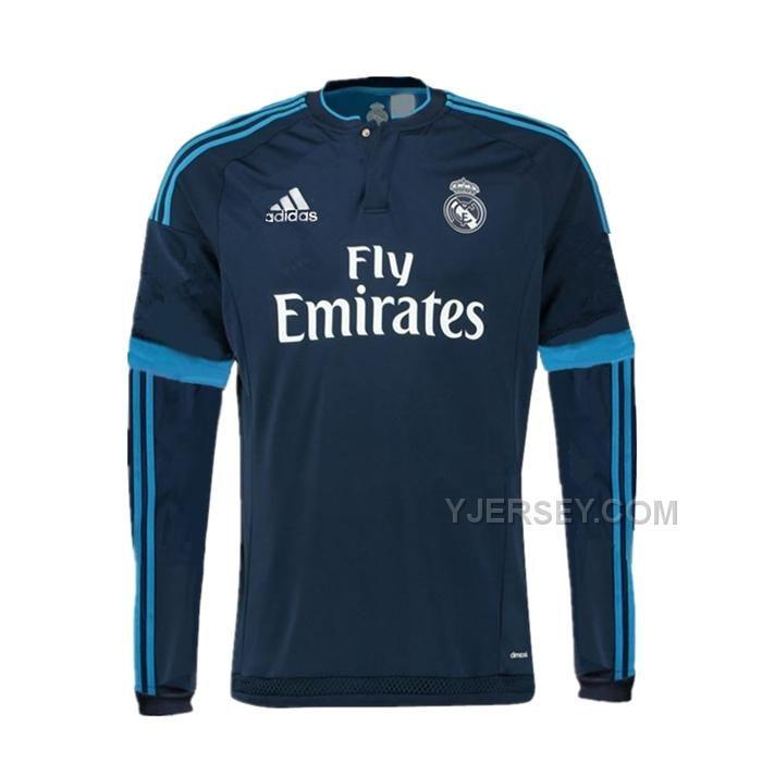 http://www.yjersey.com/1516-real-madrid-away-navy-long-sleeve-jersey-shirt.html Only$32.00 15-16 REAL MADRID AWAY NAVY LONG SLEEVE JERSEY SHIRT Free Shipping!