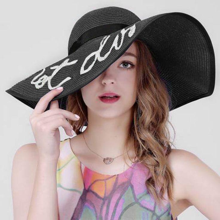 13.5Cm Wide Brim Women Straw Panama Hat Queen Lady Summer Fedora Beach Sun Hat