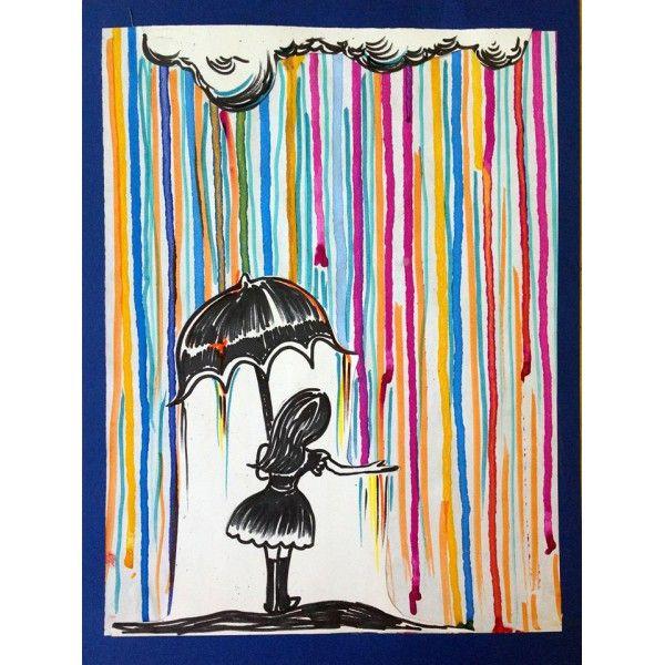 Sous la pluie (À la manière de Marc Allante)