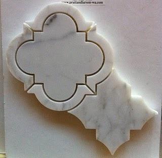 marble quatrefoil tile    pratt & larson tile and stone