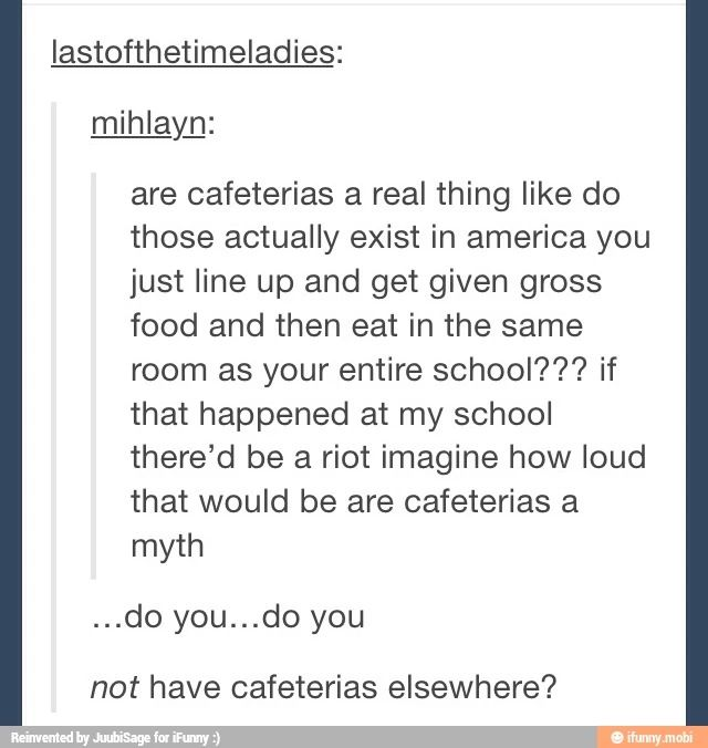 This is a legitimate concern why don't other places have cafeterias not even at hospitals ?!