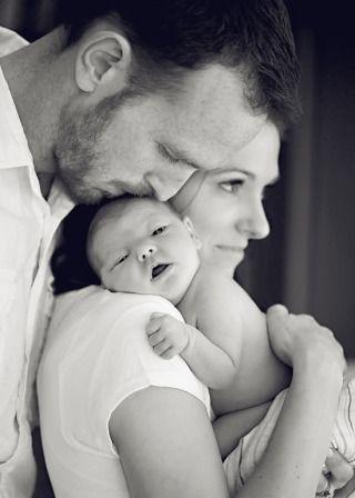 photo bébé et parents
