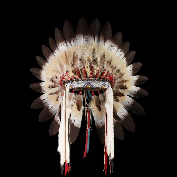 Lakota style headdress / War bonnet  2117.11.01 (front view) ☩ «4Colors»™