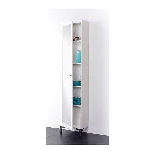 SILVERÅN Högskåp med spegeldörr - vit - IKEA