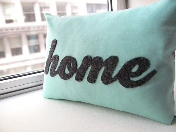 Home Pillow by HoneyPieDesign on Etsy