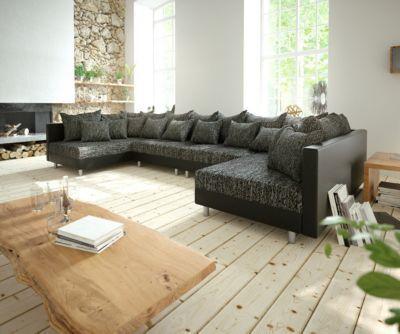 Couch Clovis XL Schwarz Wohnlandschaft Erweiterbares Modulsofa Jetzt Bestellen Unter Moebelladendirektde Wohnzimmer Sofas Wohnlandschaften Uid