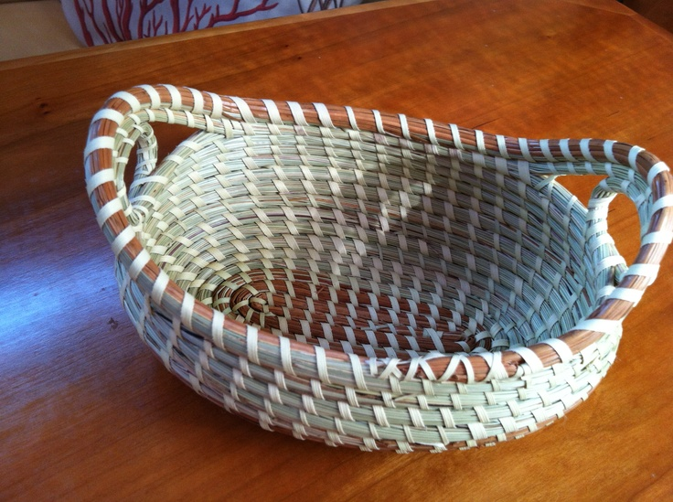 How To Weave A Sweetgrass Basket : Sweetgrass basket made by mary jefferson another daughter