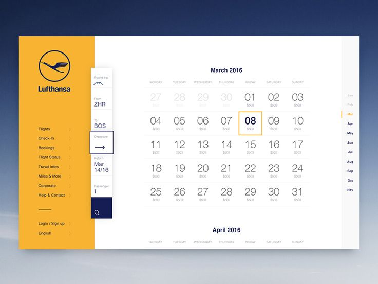 Hi friends!  One of my favorite screens from this project. It's so much fun to have a very clean and simple calendar, easy navigation and it's scrollable!  Looking forward to your feedback!  Thanks...