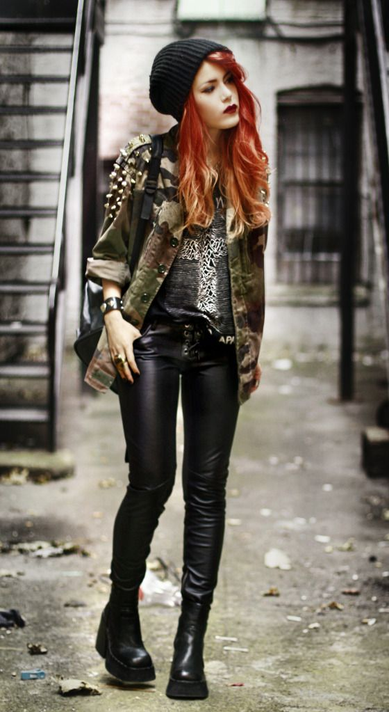 LEHAPPY » 2012 » November Luanna P | Kill City Pants - Kill City T-shirt - UNIF via Miss KL Jacket - Chasing the Dime