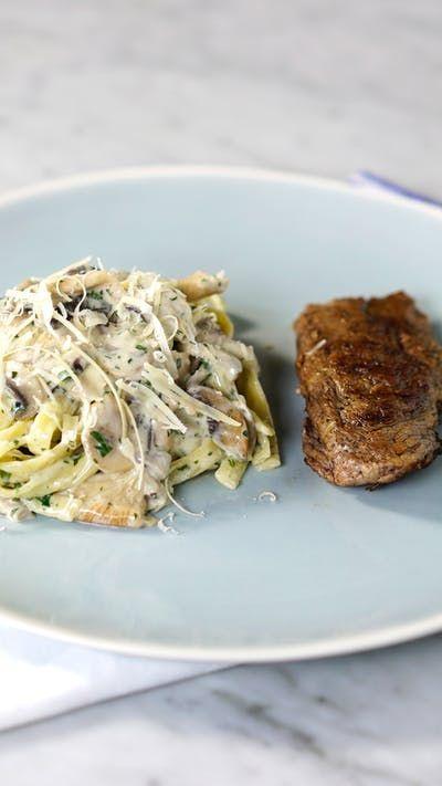 Aposte nessa tagliatelle com molho de cogumelos para uma refeição completa deliciosa!