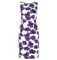 White Poppy Print Dress | Occasion Dresses | Dresses | Hobbs