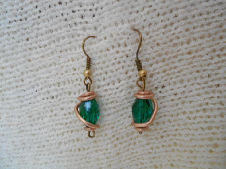 Olden and cristal emerald earrings